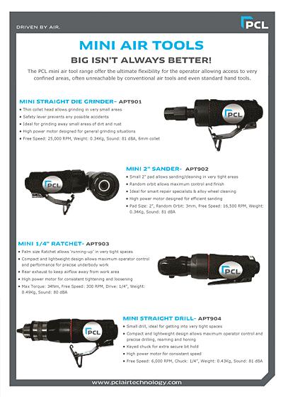 PCL-SUMO Mini Air Tools Leaflet