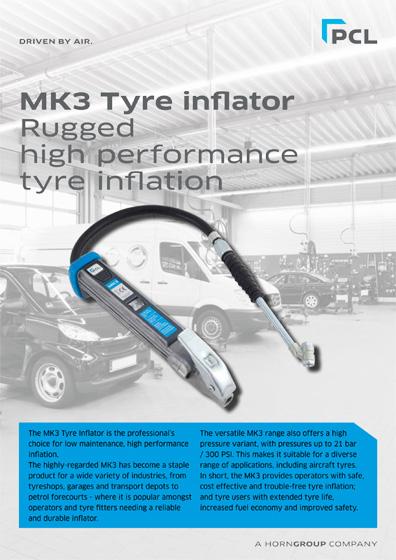 PCL-SUMO MK3 Tyre Inflator Datasheet